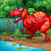 Puzzles dino game Kids icon