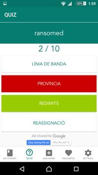 Catalan English Dictionary screenshot 3