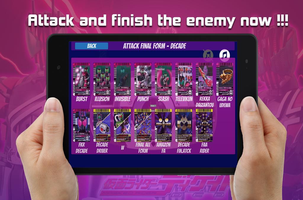 DX henshin belt for kamen & rider Decade henshin for Android
