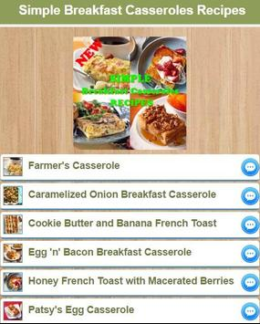 Simple Breakfast Casseroles apk screenshot