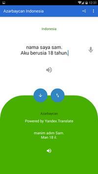 Azerbaijani Indonesian Translator screenshot 3