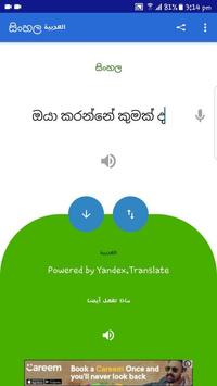 Sinhalese  Arabic Translator screenshot 4