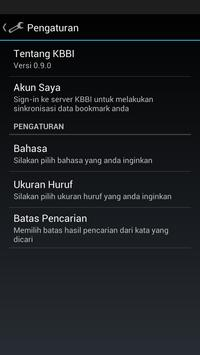 Kamus Bahasa Indonesia KBBI apk screenshot