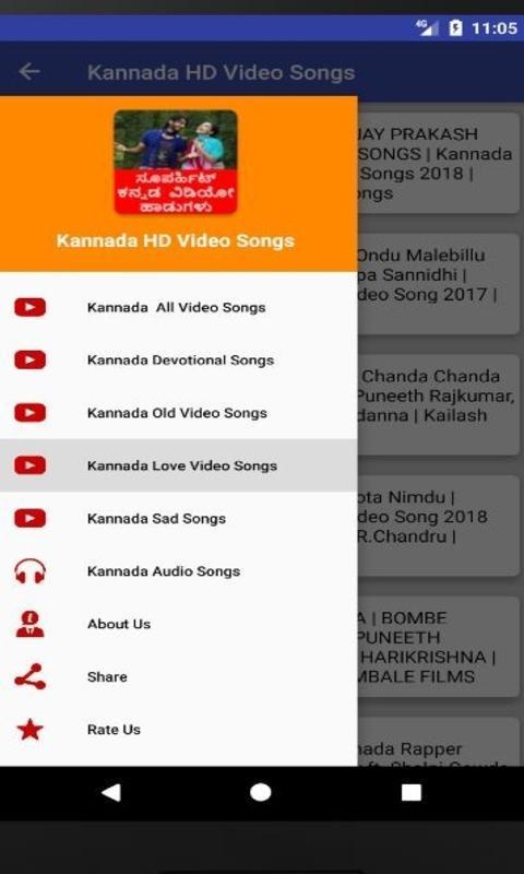 Kannada Songs - Kannada HD Video Songs for Android - APK