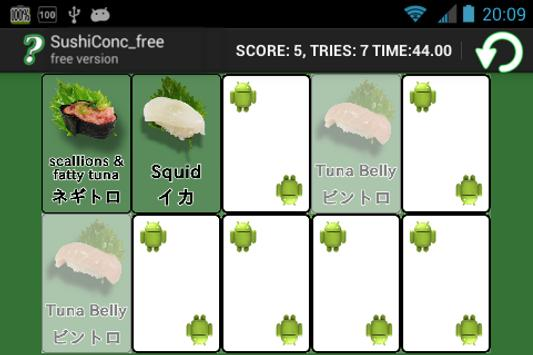 Sushi Concentration free apk screenshot
