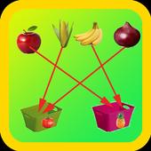 Kids Fruits Sorting Game icon