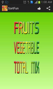 Kids Fruits Sorting Game poster