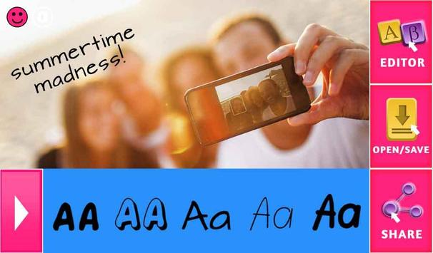 Awesome Text on Selfie Photos apk screenshot