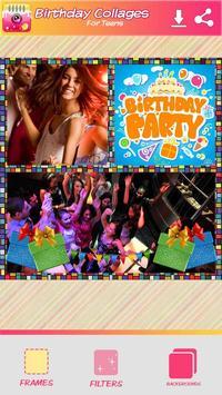 Cumpleaños Collage de Fotos Poster