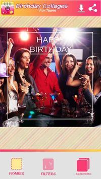 Cumpleaños Collage de Fotos captura de pantalla 2