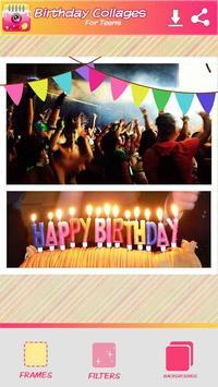 Cumpleaños Collage de Fotos captura de pantalla 3