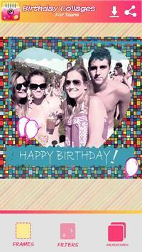 Cumpleaños Collage de Fotos captura de pantalla 4