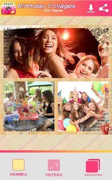 Cumpleaños Collage de Fotos captura de pantalla 5