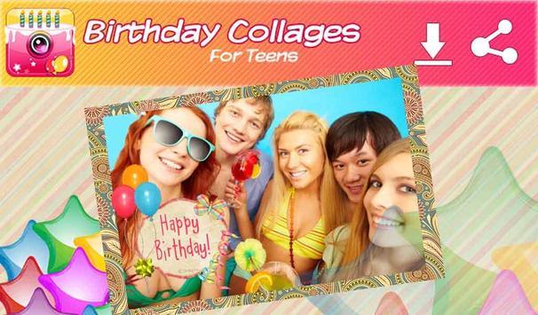 Cumpleaños Collage de Fotos captura de pantalla 6