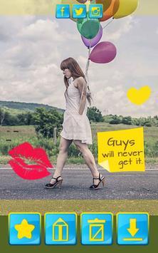 Cute Stickers for Girls apk screenshot
