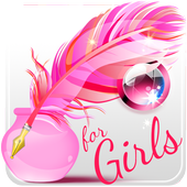 Write Text on Photos for Girls icon