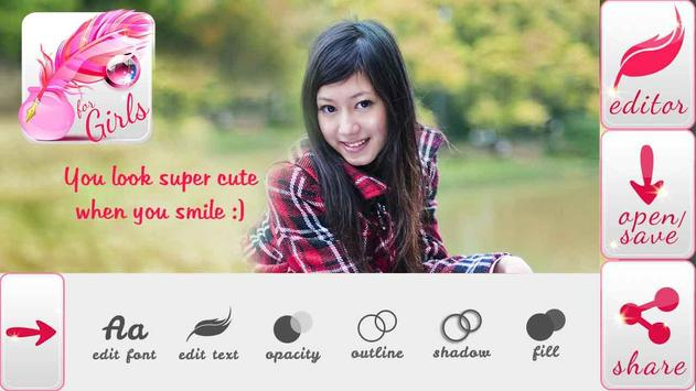 Write Text on Photos for Girls poster