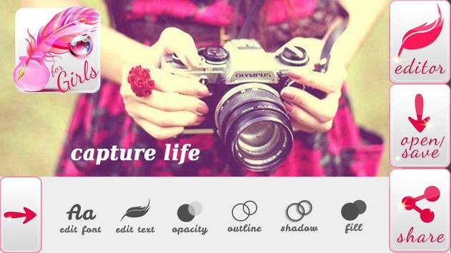Write Text on Photos for Girls apk screenshot