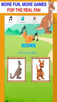 kangaroo games for kids free poster