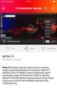 WOW TV INDONESIA - TV & RADIO apk screenshot