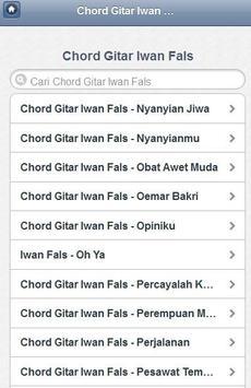 Chord Iwan Fals Terbaru apk screenshot