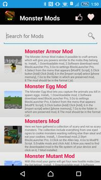 Monster Mod For MCPE' apk screenshot