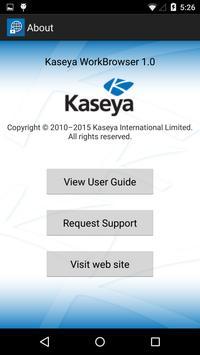Kaseya WorkBrowser screenshot 2