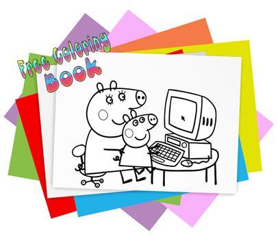 How To Color Peppa Pig Kids Coloring Apk Screenshot