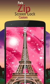 paris zip screen lock custom screenshot 1