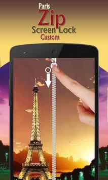 paris zip screen lock custom screenshot 2