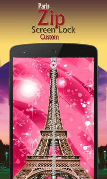 paris zip screen lock custom screenshot 7