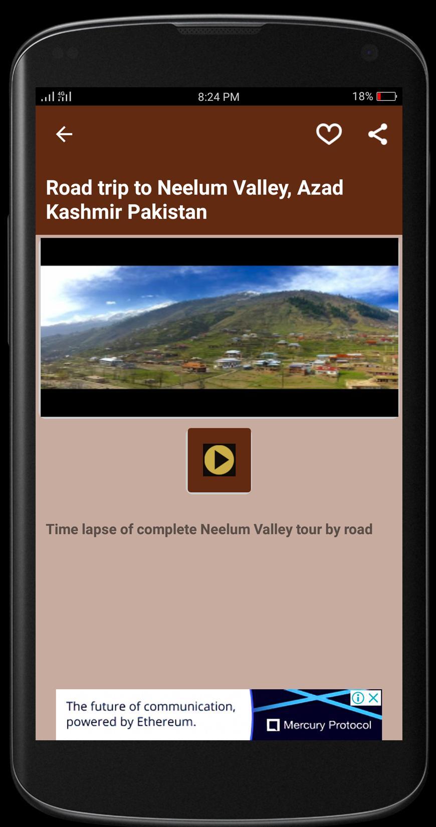 Kashmir Tourism poster