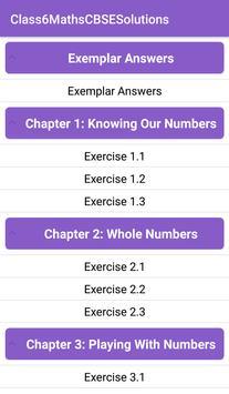 6th Maths CBSE Solutions - Class 6 screenshot 1