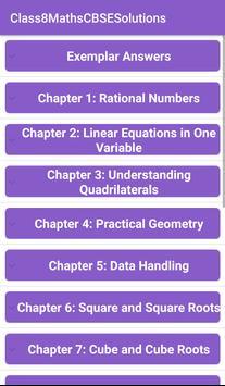 8th Maths CBSE Solutions - Class 8 poster