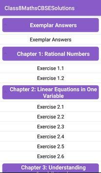 8th Maths CBSE Solutions - Class 8 screenshot 1