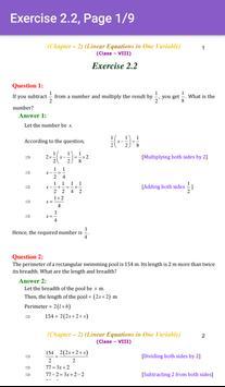 8th Maths CBSE Solutions - Class 8 screenshot 2