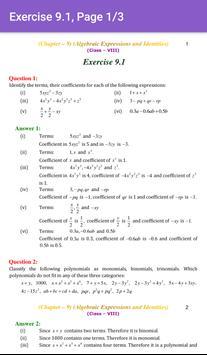 8th Maths CBSE Solutions - Class 8 screenshot 3