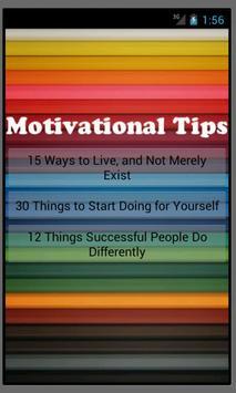 Motivational Tips poster