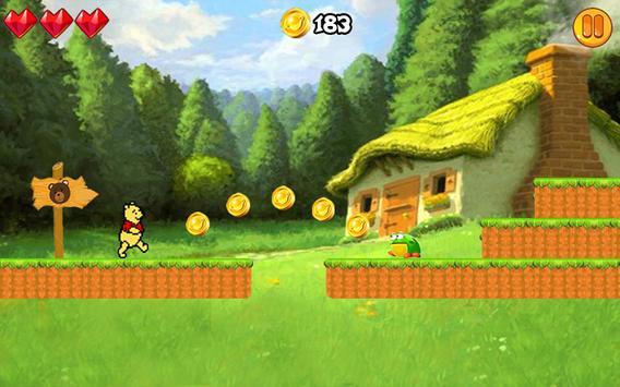 Jungle Pooh Bear Adventure apk screenshot