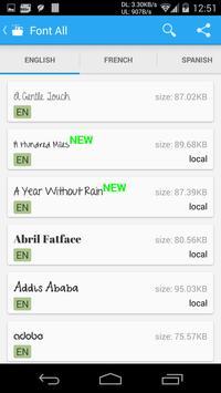 Schermata apk iFont (Font per Android)