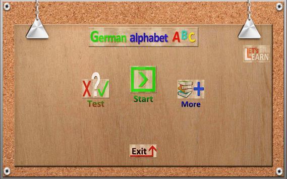 German Alphabet Lets Learn poster