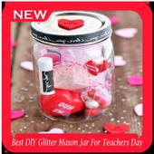 Best DIY Glitter Mason Jar For Teachers Day icon