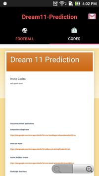 Pro tips Prediction  D11 - Football apk screenshot