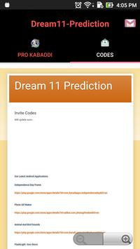 Pro tips Prediction D11- Kabbadi apk screenshot