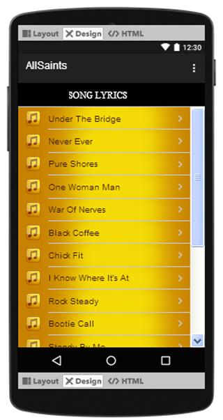 All Saints Top Songs & Hits Lyrics  for Android - APK Download
