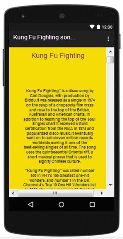 Novelty song: kung fu fighting-carl douglas lyrics.