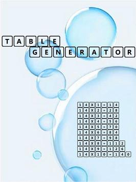 Table Generator poster