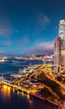 Hong Kong Lebende Tapeten poster