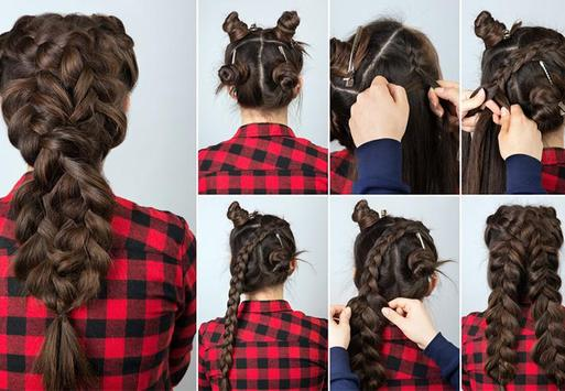‍nice hairstyle step by step screenshot 6