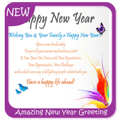 Amazing New Year Greeting Cards icon